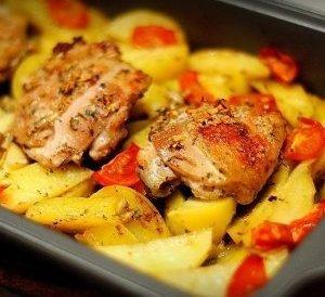 Запечённая курица с медовым соусом