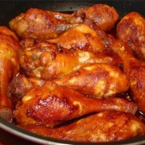Бёдра куриные с соево-медовым соусом