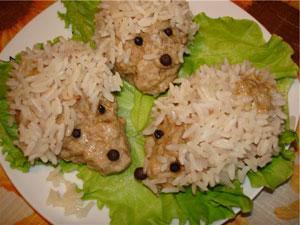 ёжики из фарша с рисом в мультиварке рецепт с фото