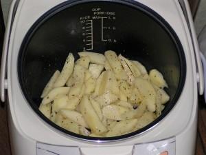 как жарить картошку в мультиварке редмонд
